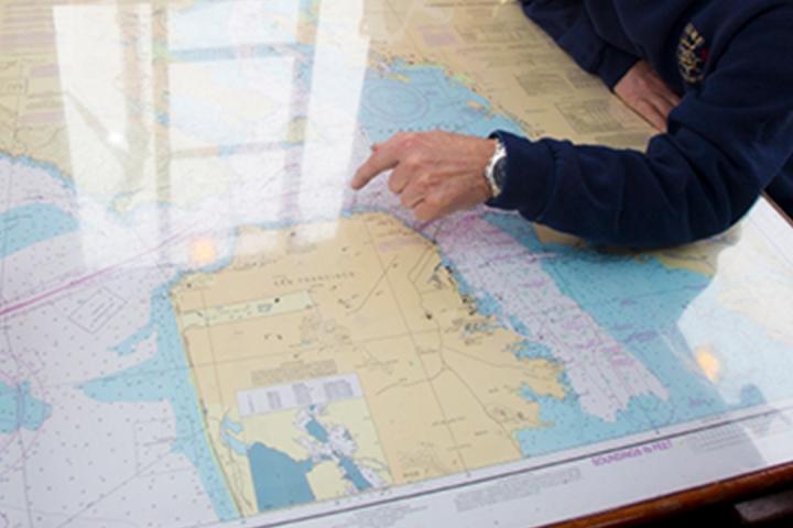 Ang punto ng tao sa lugar sa mapa ng Hetch Hetchy water system