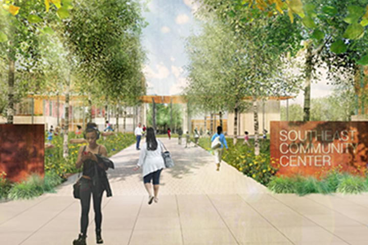 تقديم مركز مجتمع الجنوب الشرقي المستقبلي