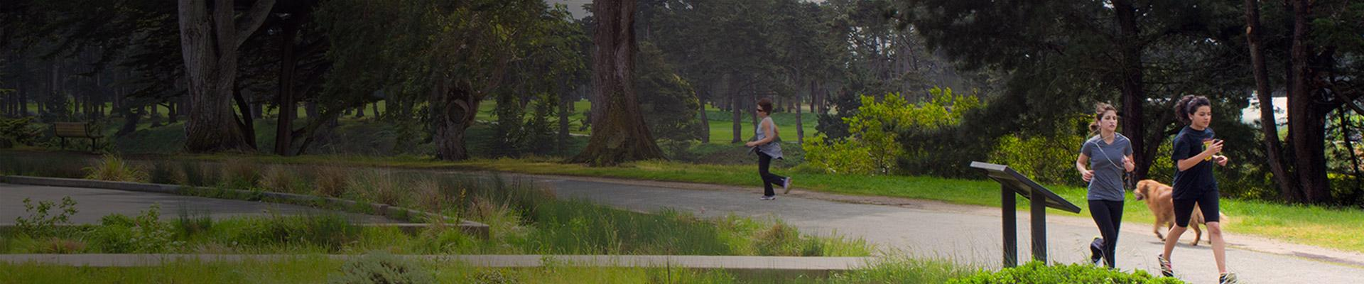 Người chạy bộ trên đường mòn