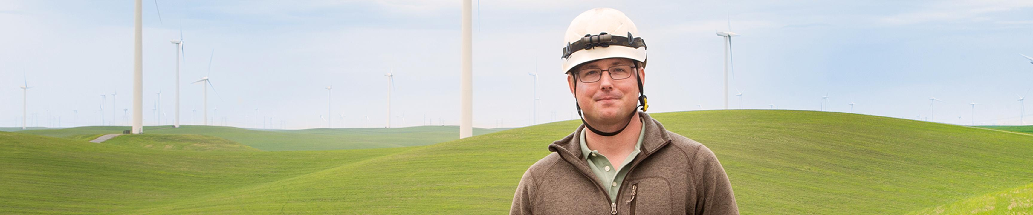 Công nhân SFPUC tại trang trại gió Bay Area