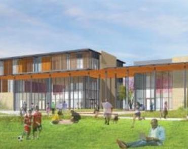 社區設施的草坪和運動區